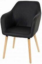 Stuhl schwarz Polstersessel Esszimmerstuhl Sessel