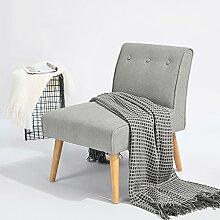 Stuhl Schwerpunkt fanilife Gartenliege aus Stoff Leinen-Gartenliege aus Holz moderne Boudoir Zimmer Wohnzimmer Möbel grau
