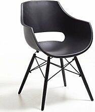 Stuhl Sessel Kunststoff schwarz modern design