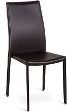 Stuhl Set in Braun Kunstleder (4er Set)