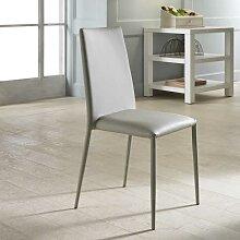 Stuhl Set  in Grau Kunstleder (4er Set)