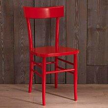 Stuhl Set in Rot Buche (2er Set)