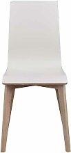 Stuhl Set in Weiß Eiche White Wash Holzbeine (2er