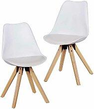 Stuhl Set mit Schalensitz Weiß (2er Set)