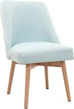 Stuhl skandinavisch Stoff Meeresgrün Füße Holz