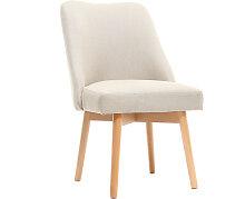 Stuhl skandinavisch Stoff naturfarben Beine Holz