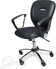 Stuhl Spider Sessel drehbar Kunstleder Schwarze Operative Studie Büro verschiedenen Farben giosal schwarz