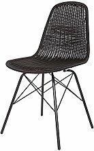 Stuhl SPUN schwarz Rattan Büro Esszimmerstuhl Küchenstuhl Lehnstuhl
