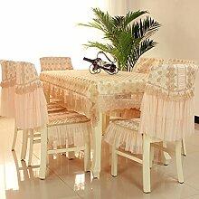 Stuhl Stoffbezug Stuhl/ pastorale Lace Cover/Einfachen modernen Stuhl Sitzbezug-E