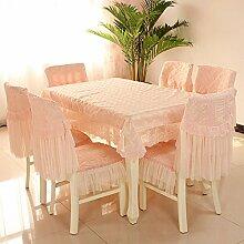 Stuhl Stoffbezug Stuhl/ pastorale Lace Cover/Einfachen modernen Stuhl Sitzbezug-D