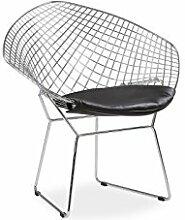 Stuhl Stuehle Armlehnenstuhl Esszimmerstuehle Replika Diamond-Chair Bertoia schwarz
