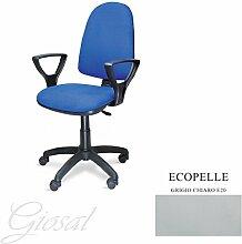 Stuhl Torino Sessel drehbar Kunstleder Operative Studie Büro verschiedenen Farben giosal hellgrau
