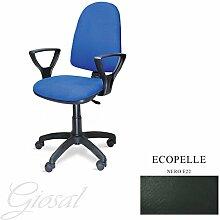 Stuhl Torino Sessel drehbar Kunstleder Operative Studie Büro verschiedenen Farben giosal schwarz