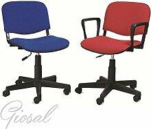 Stuhl Venere Drehstuhl mit Armlehnen Stoff Gästehandtuch Büro verschiedenen Farben giosal schwarz