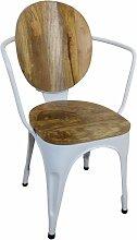 Stuhl Weiß Esszimmerstuhl Industrie Design