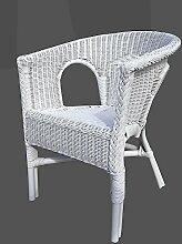 Stuhl weiß Rattansessel Korbsessel Rattan Sessel