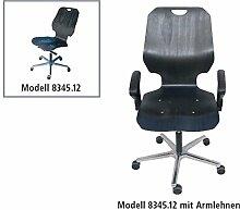Stuhl XXL Modell 8340 für schwere Personen bis 160 kg - mit Doppelrollen, Zweiteiler, Buche gebeizt, Grundversion, von Lotz