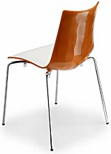 Stuhl Zebra Bicolore 4 Legs / Weiß/Anthrazi