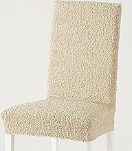Stuhlhusse beige Größe Stuhl