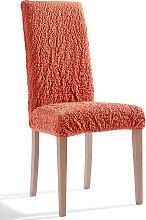 Stuhlhusse Crincle, orange (Sitzplatz 40/40 cm)