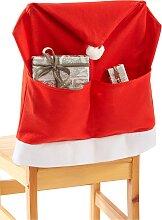 Stuhlhusse Santa(4er-Pack), rot
