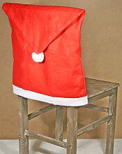 Stuhlhusse Weihnachten in schöner Mützenform