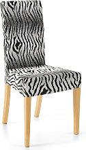 Stuhlhusse Zebra, schwarz