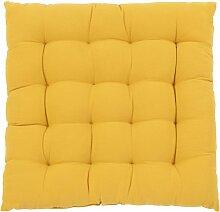 Stuhlkissen aus Baumwolle, gelb, 40x40cm