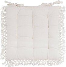 Stuhlkissen aus weißer Baumwolle 40x40