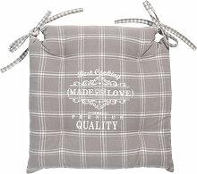 Stuhlkissen PREMIUM aus Baumwolle, grau, 40x40