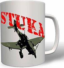 Stuka Luftwaffe Jabo Jagdbomber Bomber Flugzeug Flieger Deutschland WK Militär Wh - Tasse Kaffee Becher #16729