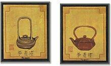 Stupell Home Wandschild, chinesische Teekanne