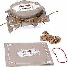 Sturzglas-Deckchen - Mit Liebe gemacht - 25 Blatt
