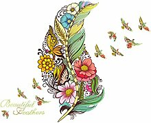 Stycars® Wall Sticker, DIY Creative Color Feather