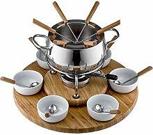 Style'n Cook Swiss Fondue Edelstahl Fondue-Set