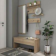 Style home 4tlg. Garderoben Set 1 Bank + 1