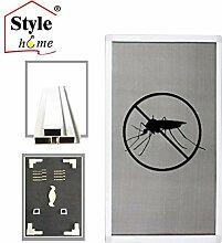Style home® Alu-Rahmen Fliegengitter Fenster Insektenschutz Mückengitter Gitter Neu FF16 (Weiß/80x100)