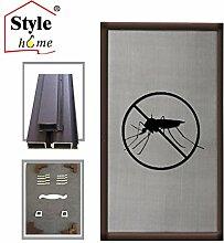 Style home® Alu-Rahmen Fliegengitter Fenster Insektenschutz Mückengitter Gitter Neu FF16 (Braun/80x100)