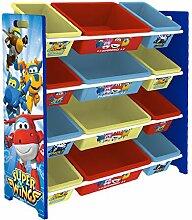 Style home Kinder Spielzeugregal,mit 12 Boxen,