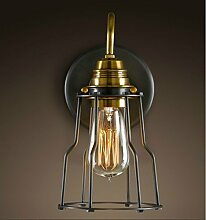 Style home Retro Wandleuchte Metall Wandlampe E27