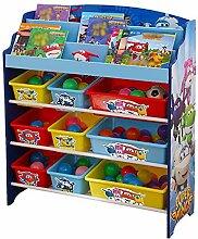 Style home Super Wings Kinderregal Bücherregal