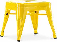 Style Tolix Kinderhocker - Metall Gelb