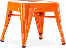 Style Tolix Kinderhocker - Metall Orange