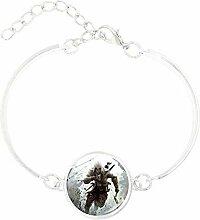 Style2 Charm-Armband mit versilbertem Glas im