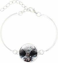 Style3 Charm-Armband mit versilbertem Glas im