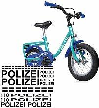style4Bike Polizei Fahrrad Aufkleber Folienplot