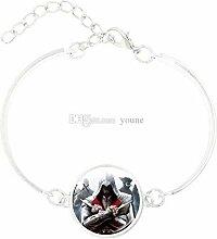 Style7 Charm-Armband mit versilbertem Glas im