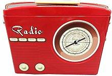 stylebox Blechdose rotes Radio mit Henkel Keksdose