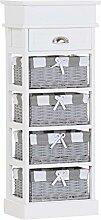 Stylefurniture 6326-5 Regal, Holz, weiß, 38 x 28