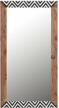 Stylefurniture Spegel mit optischem Highlight, Holz, natur, 130 x 70 x 3 cm